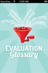 I just downloaded the free Evaluation Glossary app here