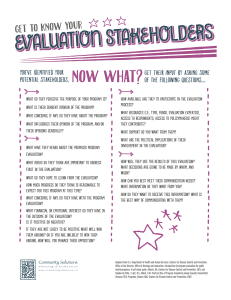 Evaluation Stakeholders